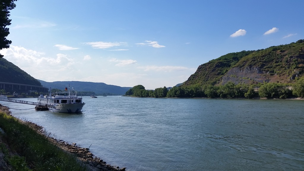 A beer on the banks of the Rhine with good friends and life doesn't get much better than that.